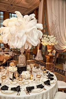 elegant vintage inspired destination wedding in chicago wedding centerpieces gatsby wedding