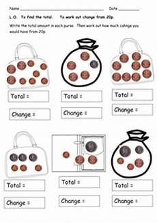 money worksheets change from 50p 2103 money worksheets totals and change resources tes