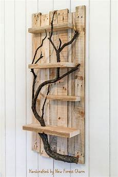 Home Decor Ideas With Wood by Rustic Home Decor Wall Reclaimed Pallet Shelves Wooden