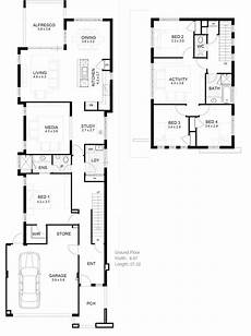 2 storey house plans for narrow blocks narrow house plans google search narrow house designs