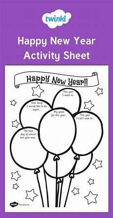 worksheets new year 19370 happy new year activity sheet this handy worksheet gives your children the opportunity to show