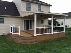 lean to roof over two toned clubhouse deck modern deck other by stump s quality decks