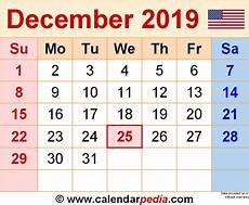 1 January 2019 31 December 2019 by December 2019 Calendars For Word Excel Pdf