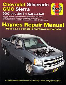 online service manuals 2008 gmc yukon xl 1500 regenerative braking 2007 2013 chevy silverado repair manual haynes