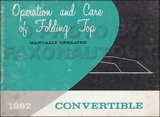 book repair manual 1999 oldsmobile cutlass user handbook 1962 manual convertible top owners guide buick special skylark olds cutlass book ebay