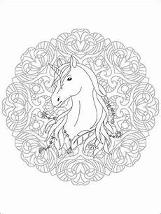 Malvorlagen Unicorn Yellow Unicorn Mandala Posters And Prints Posterlounge Co Uk