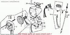 honda express wiring diagram honda nc50 express 1979 z usa headlight speedometer schematic partsfiche
