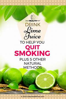 drink lime juice to help you quit smoking and 5 more tricks