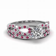 buy affordable pink sapphire wedding ring sets online fascinating diamonds