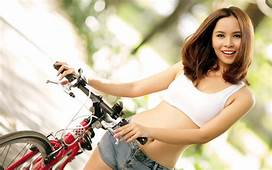Girl And Bike Wallpaper 77  Images