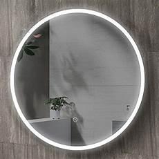Badspiegel Rund Mit Beleuchtung - hoko 174 runder bad spiegel led beleuchtet cottbus 60cm rund