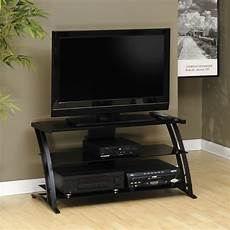 tv racks tempered glass contemporary panel tv stand in black