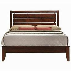 bed frame plank headboard funky king size bed frame w platform wood slats headboard