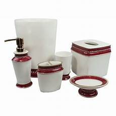 sherry kline victoria jewel 6 piece bath accessory set 4 color option ebay