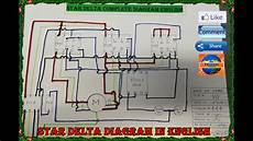 star delta connection control and power circuit diagram in english by umang rajput youtube