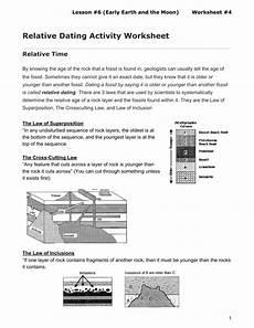 earth science relative dating worksheet 13274 relative dating activity worksheet