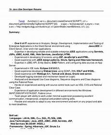 free 7 sle java developer resume templates in ms word