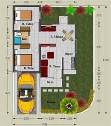 35 Gambar Denah Rumah Minimalis Type 45 Terbaru 2020