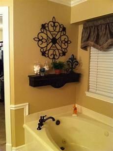 bathroom wall decorating ideas decorative shelf above bath tub bathtub decor garden tub decorating home decor