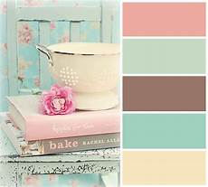 mint pink and brown vintage hues color palette in 2019