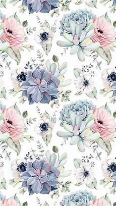 flower wallpaper pattern succulents watercolour patterns and images for