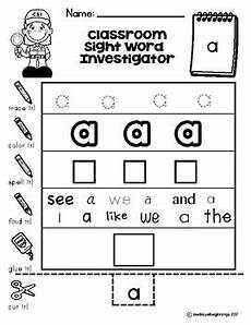 dolch pre primer sight word worksheets classroom sight word investigators