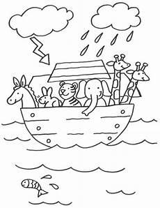 Malvorlagen Kinder Arche Kostenlose Malvorlage Szenen Aus Der Bibel Arche Noah Zum