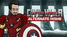captain america civil wars captain america civil war alternate hishe
