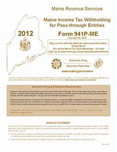 form 941p me inst pass through entity return of maine income tax withheld from members