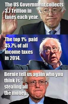 bernie memes meme destroys liberal arguments about taxing the rich