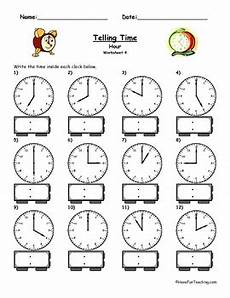 printable worksheets on time for grade 4 3763 telling time clock worksheet to the hour by teaching tpt