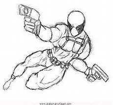 Malvorlagen Tiger Pool Deadpool 2 Gratis Malvorlage In Comic Trickfilmfiguren
