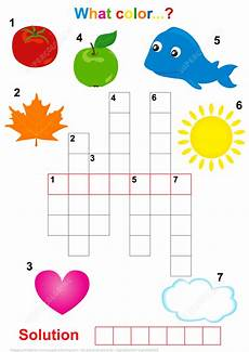 colors crossword worksheets 12726 crossword puzzle for children what the color free printable puzzle