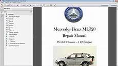 car repair manuals online pdf 2009 mercedes benz e class interior lighting mercedes benz ml320 w163 manual de taller workshop r car repair manuals