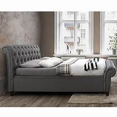 upholstered side ottoman bed in grey by birlea beds cucko