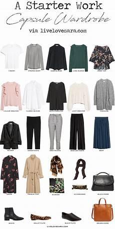 capsule wardrobe a starter work capsule wardrobe livelovesara
