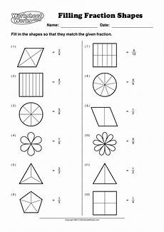 fraction worksheets level 1 4001 worksheet works filling fraction shapes 1