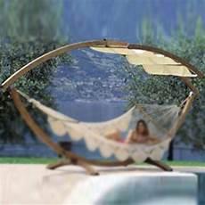 amaca da esterno supporto in legno lamellare trattato per esterno completo