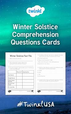 winter worksheets twinkl 20097 these comprehension cards go in with twinkl s winter solstice fact file reading pa