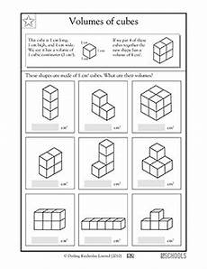 5th grade math worksheets volume of cubes volume