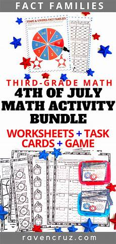 4th of july math fact family math activities math facts