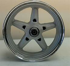 new 12 front aluminum wheel w polished lip for most gy6