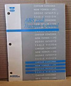 vehicle repair manual 1995 dodge intrepid engine control chrysler abs traction control manual concorde new yorker dodge intrepid 1992 ebay