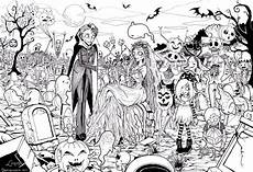 Ausmalbilder Erwachsene Horror Treats Coloring Pages Rude The