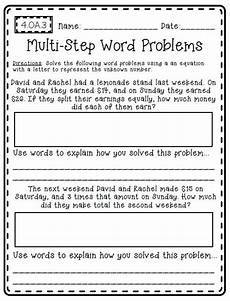 multi step word problems worksheets 3rd grade 11421 common math outside of the box create teach math the box my