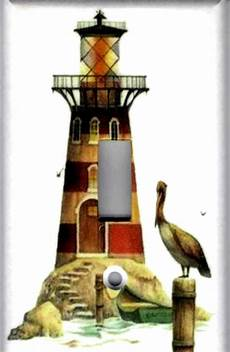 lighthouse with pelican lighthouse nautical home wall