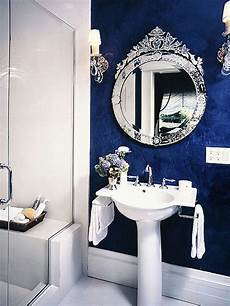 Bathroom Ideas Navy And White by Velvety Blue Wall Decorating And Design Bathrooms In
