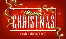 merry christmas and happy new year 2019 greeting card background download free vector art