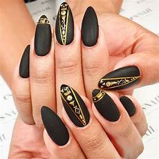 luxurious black and gold nails naildesignsjournal com