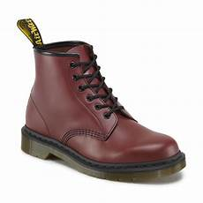 101 smooth cherry 6 eye boots dr martens unisex ankle